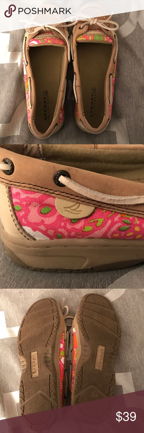 Sperry Angelfish size 6 Lightly used pink and green Sperry Angelfish boat shoes Sperry Top-Sider Shoes Flats & Loafers
