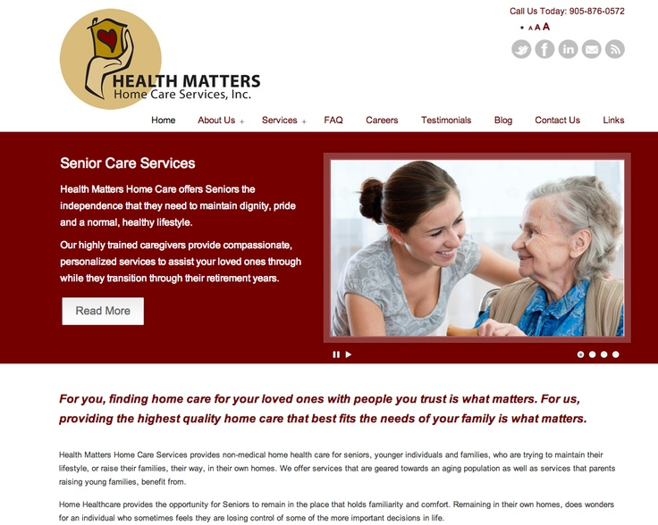 We create not only user friendly, easy to navigate, Search Engine Optimized but our websites are conversion focused to increase your leads and grow your business! This website was created for Health Matters Senior Home Care Provider business.  Contact us with your Website Design need. http://intactmarketing.com/portfolio/