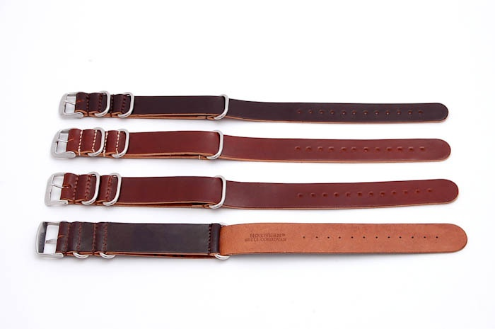 Leffot Horween Shell Cordovan Leather NATO watchstrap. $225