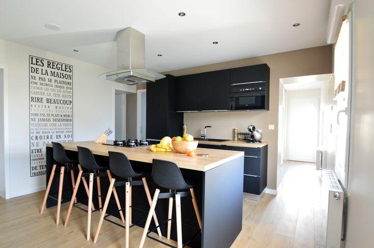 1000 ideas about cuisine noir mat on pinterest ikea. Black Bedroom Furniture Sets. Home Design Ideas