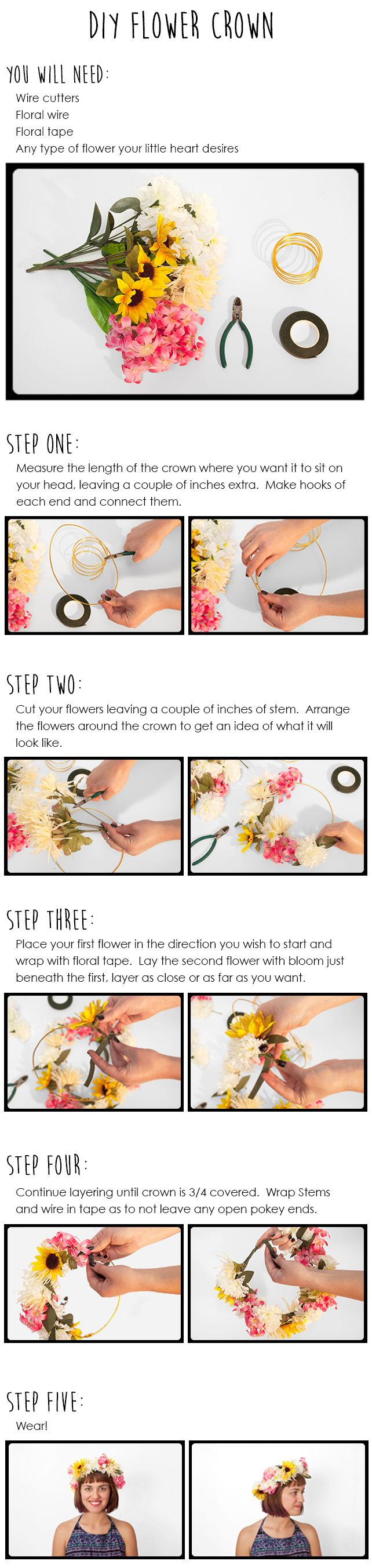 DIY Festival Flower Crown Tutorial