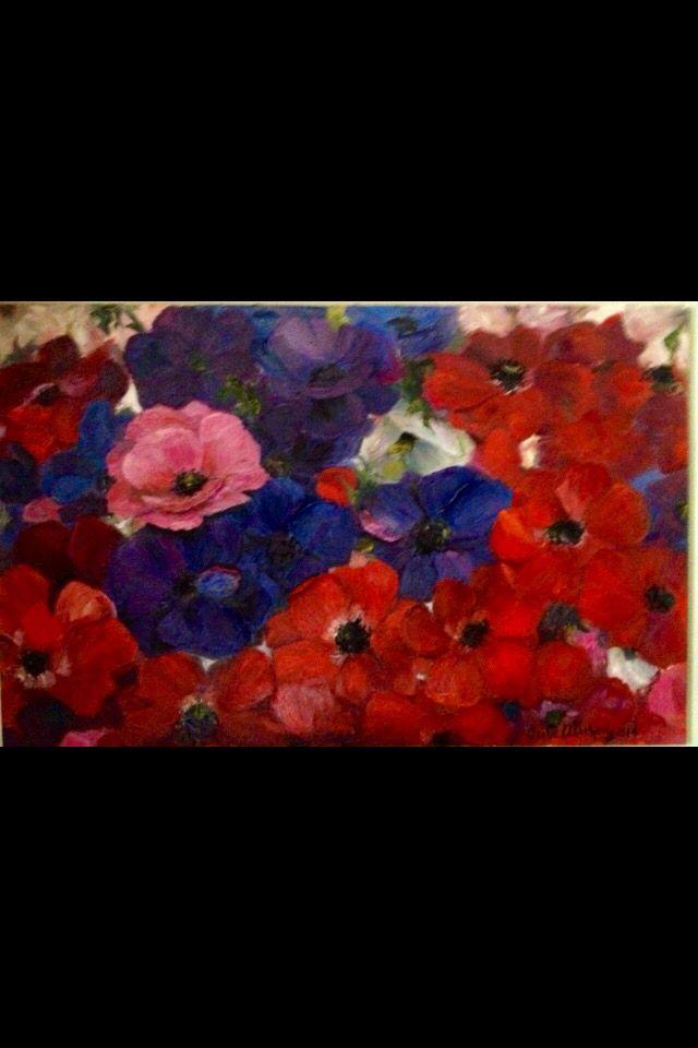 Anemonlar 100x150 Y boya