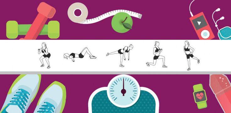 Domowy trening na dolne partie ciała dla początkujących [infografika]