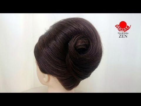 かぶせのアップスタイル2夜会巻き風 ZENのHow to ヘアセット37 - YouTube