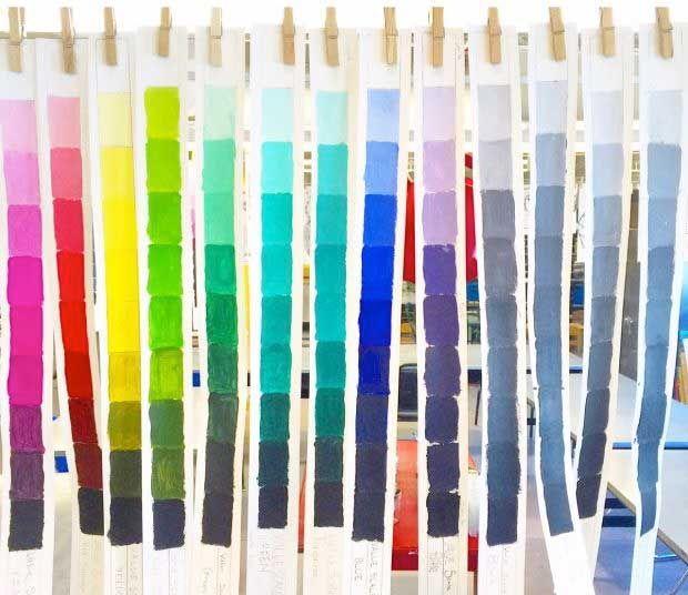 9 tinten...blauw, groen, roze, etc..