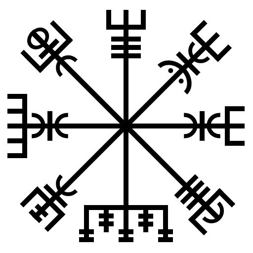 The O Jays A Symbol And Nature: Galdrastafir Sigils Website. (Pic = Vegvisir)