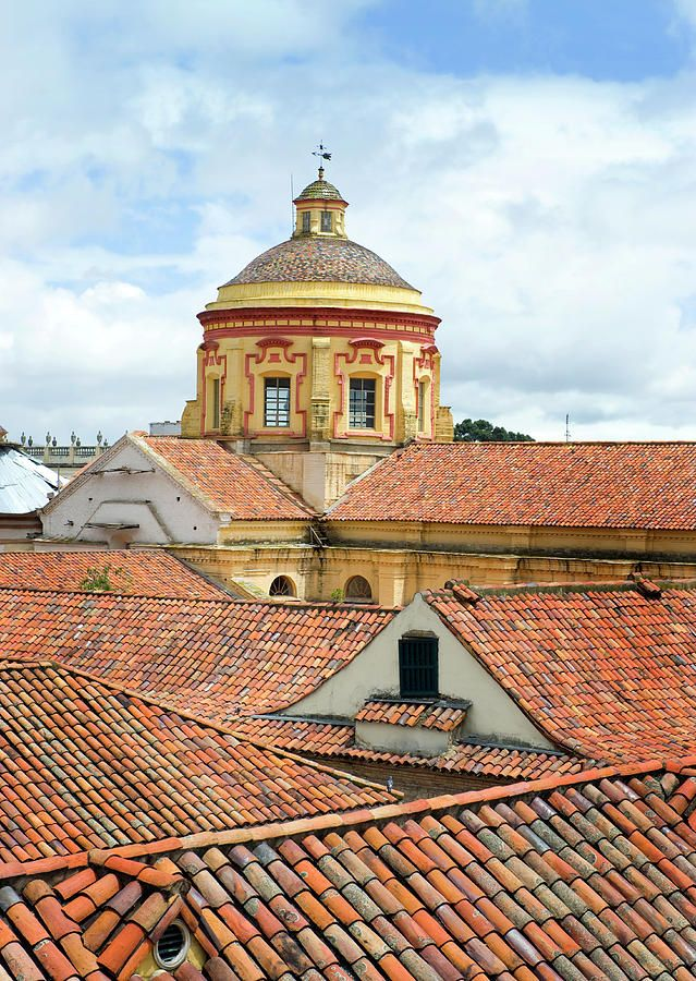 Tile rooftops, colonial candelaria district, Bogota, Colombia