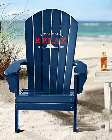 Tommy Bahama Deluxe Navy Adirondack Chair Chair