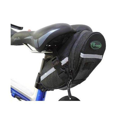 Equipe sua bicicleta com esta Nova bolsa para assento traseiro de bicileta B-SOUL - Preta e encontre um lugar conveniente para estocar seus acessórios. Price US$12,49