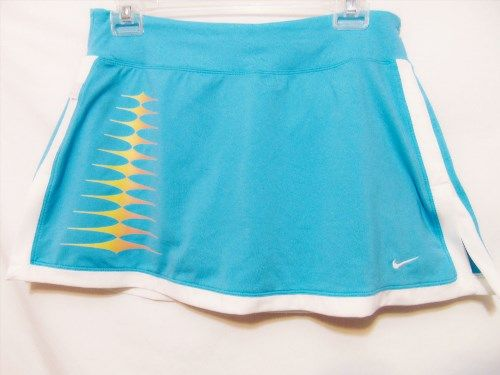 20.00$  Watch here - http://viibw.justgood.pw/vig/item.php?t=z8bln1p39280 - NIKE Tennis Womens Athletic Style Skort M/Medium Light Blue/White Golf Stretch