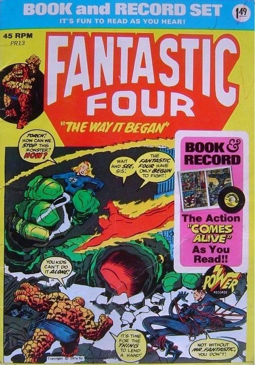 STAX OF WAX!  Power Records Book & Record Set  Fantastic Four The Way It Began  Circa 1974