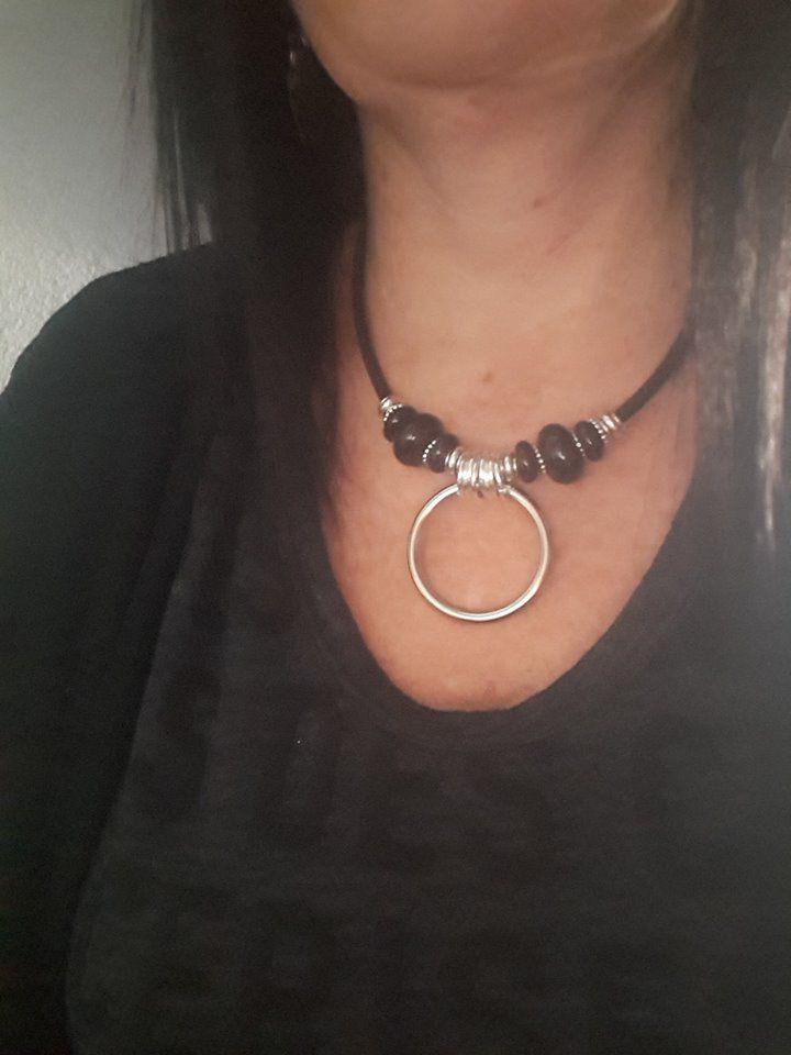 sautoir collier rock femme