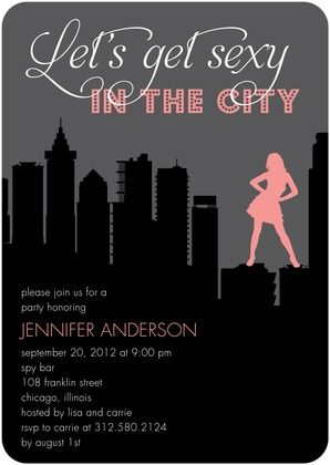 Bridal city in invitation sex shower theme