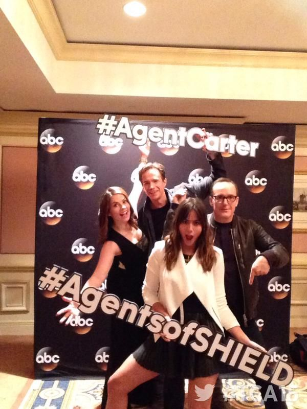Hayley Atwell, James D'Arcy, Chloe Bennet, Clark Gregg || Twitter || #cast