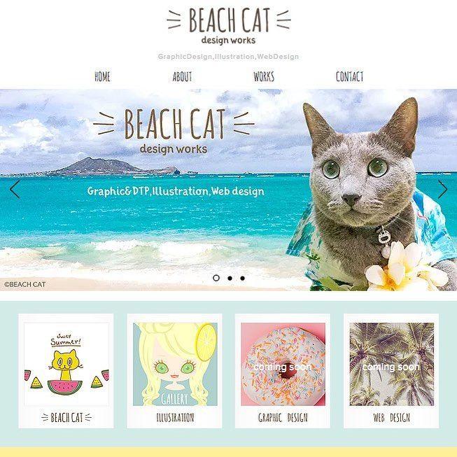 Beach Cat Design Works Https Beachcatcom Wixsite Com Main 最近みんにゃの投稿をサラッとしか見れない日々でしたが お仕事用のホームページを新しく作ってました オリオンも載ってます ス Cat Design Graphic Cats