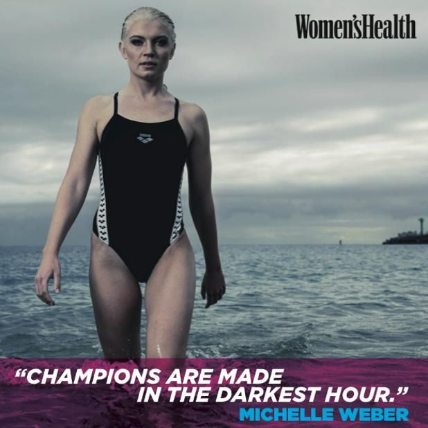 Michelle Weber, open-water swimmer