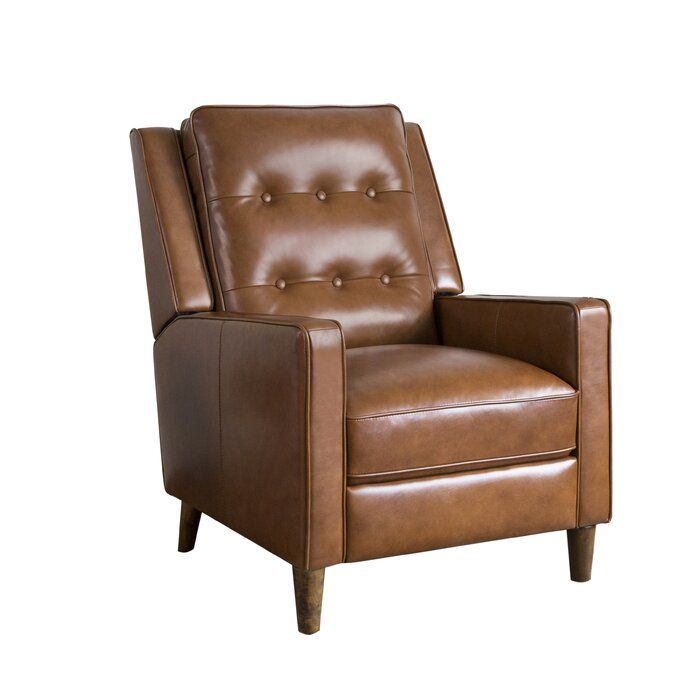 Drumheller Manual Recliner Leather Recliner Recliner Tufted Leather