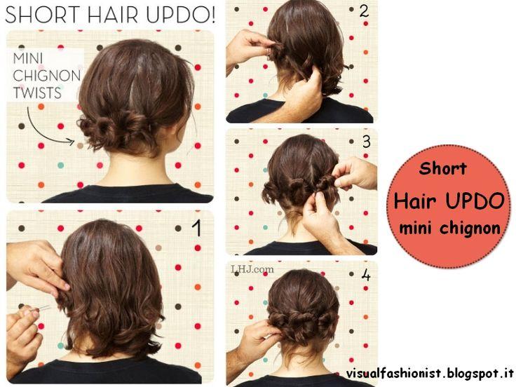 Acconciature per capelli corti ed eleganti fai da te - Google Search