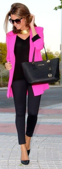 #street #fashion color pop pink @wachabuy