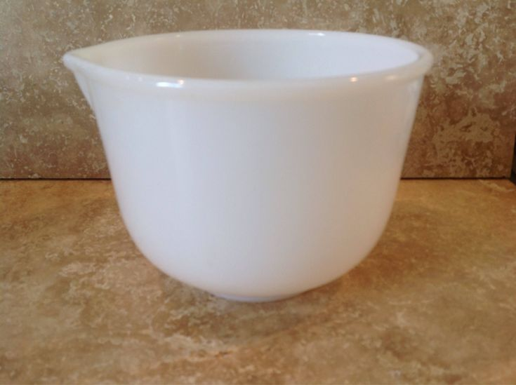 A personal favorite from my Etsy shop https://www.etsy.com/listing/540972886/white-glassbake-mixing-bowl