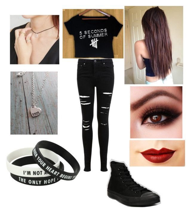 """""""5 SOS concert"""" by friends-forever-and-always ❤ liked on Polyvore featuring Miss Selfridge, Converse, Jeffree Star and FROMBEGINNING"""