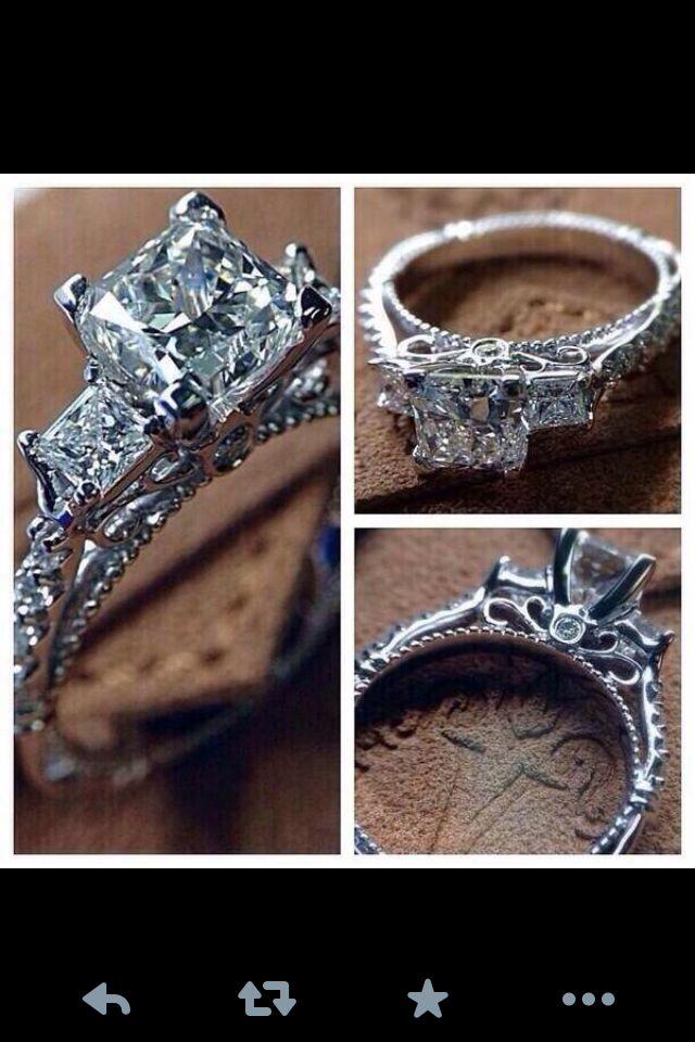 Engagement ring wedding ring