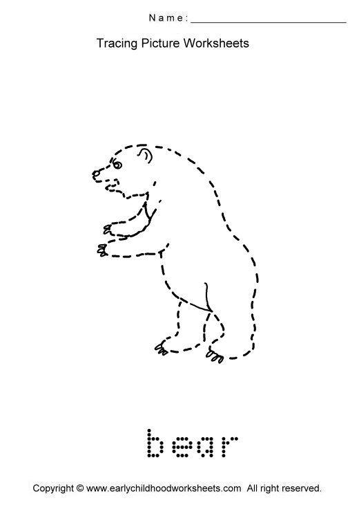 all worksheets 187 tracing animals worksheets printable
