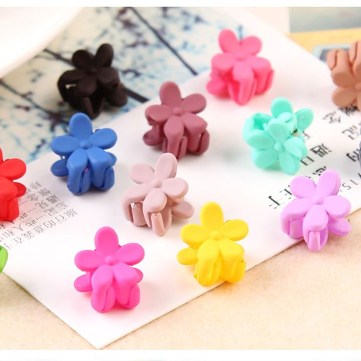 10PCS/Lot New Korean Fashion Baby Girls Small Hair Claw Cute Candy Color Hair Clip Children Hairpin Hair Accessories Wholesale