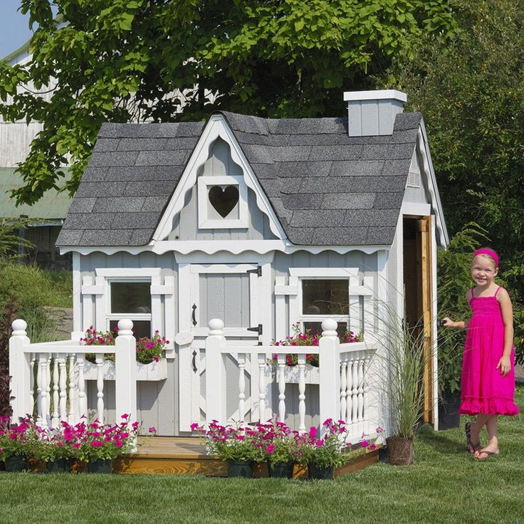 playhouse little cottage 4 x 6 victorian wood playhouse wfloor kit