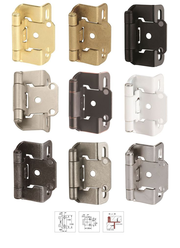 Adjustable 1 2 Inch Overlay Partial Wrap Self Closing Cabinet Hinge By Amerock The Bp7550 Series Features Re Hinges For Cabinets Door Hinges Types Of Hinges