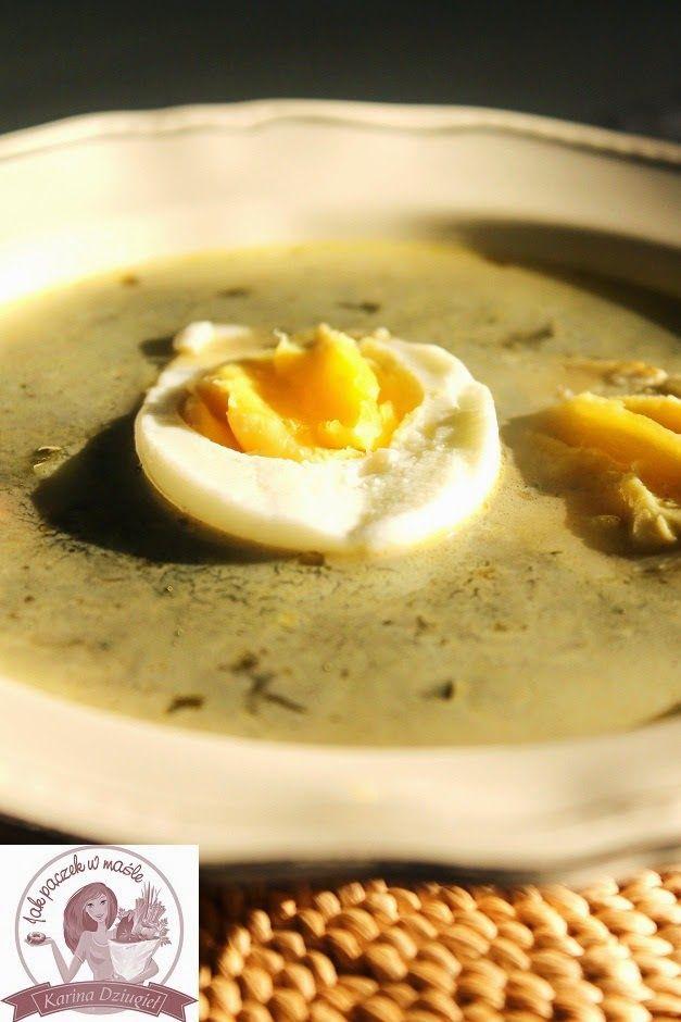 Jak pączek w maśle...blog kulinarny,smacznie,zdrowo,kolorowo!: Zupa szczawiowa z jajkiem i ziemniakami - szczawiówka