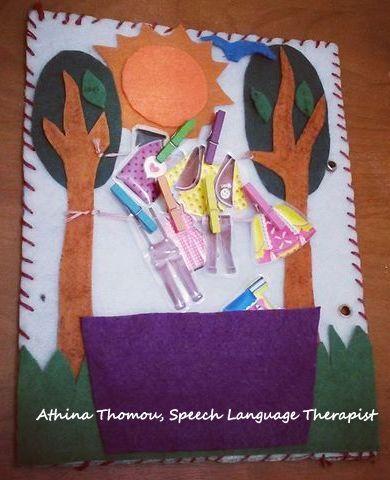 QUIET BOOK -  Λογοθεραπεία - Speech Language Therapist - Λεπτή Κινητικότητα - Κατονομασία και Κατηγοριοποίηση Ρούχων - Πειργραφή εικόνας
