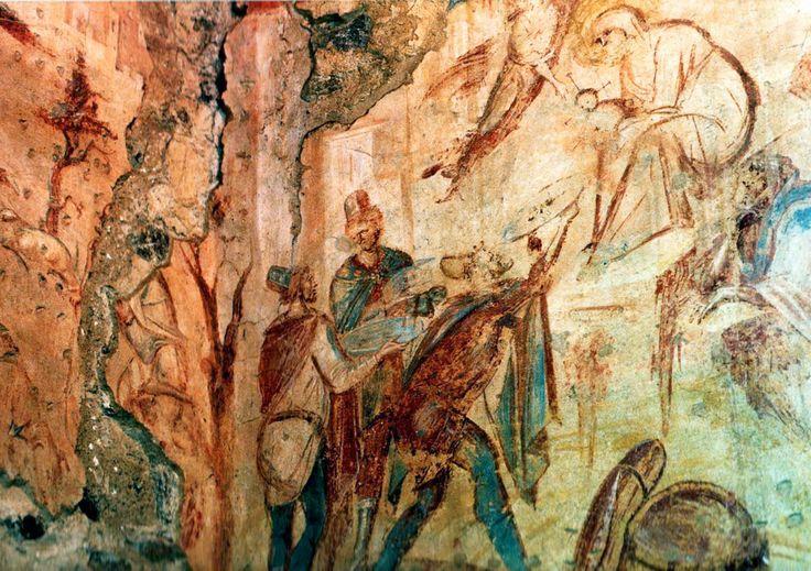 Bizantine frescoes in Santa Maria Foris Portas, Castelseprio, Varese, Italy.