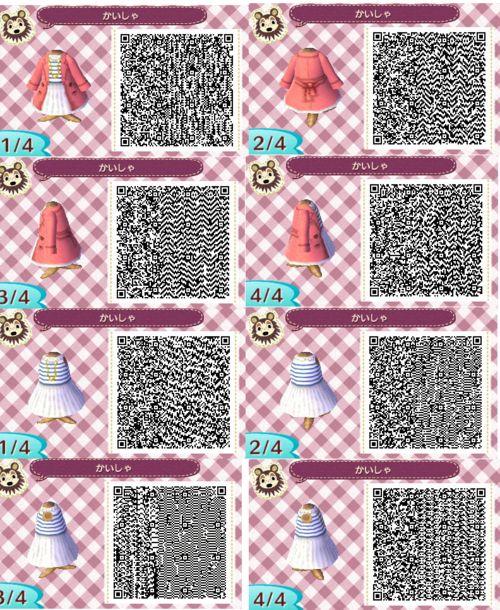 Sweet kawaii Long sleeve Qr code dress! acnl qr code dress