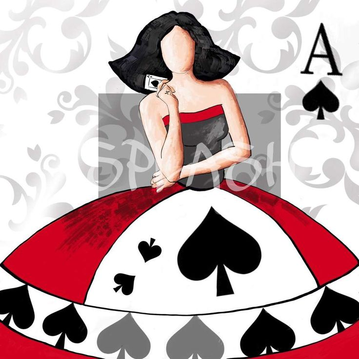 Cuadro moderno decorativo Menina poker abstracto