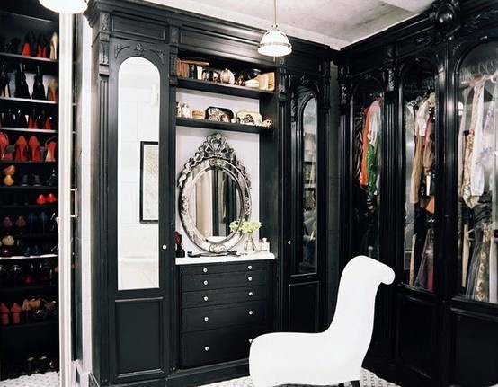Black Glam closet.. I WANT !
