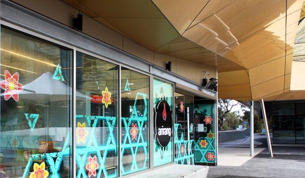 Arirang Korean Barbeque ECU Joondalup Perth Western Australia Interior Design Graphic Sign Screen Teal Joo