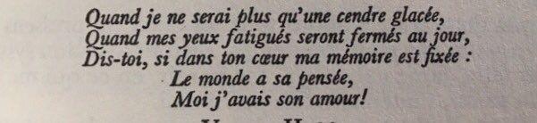 Les vers de Victor Hugo adressés à Juliette Drouet