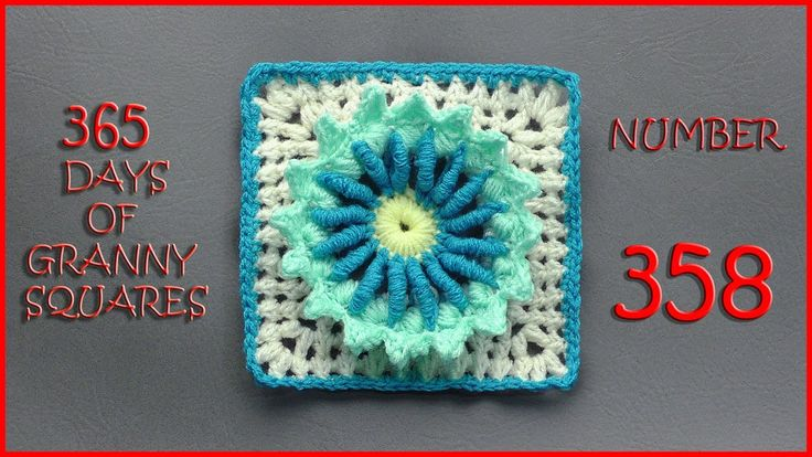 365 Days of Granny Squares Number 358: Published on Dec 22, 2016 Written Pattern: http://www.ravelry.com/patterns/libra...  Link to written pattern can be found at the bottom of this blog: https://yarnutopia.com/365-days-of-gr...