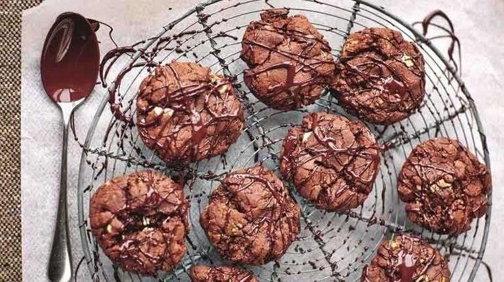 Image: Jamie Oliver's devil's double choc malt cookies