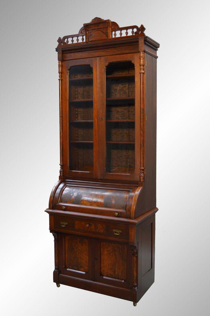 SOLD Victorian Walnut Cylinder Secretary Bookcase. SecretaryOffice FurnitureAntique  FurnitureBookcasesMaineLibrariesBookshelvesBook Shelves - 35 Best Antique Office Furniture Images On Pinterest Maine