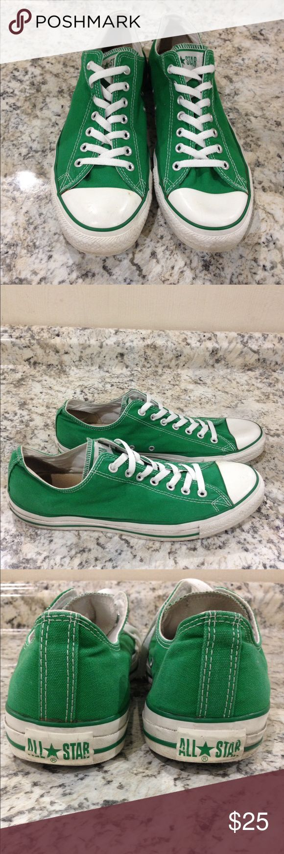 🌴NEW LISTING🌴 Converse Shoes Green. Shows signs of wear. Size 12.  (1/27) Converse Shoes Athletic Shoes