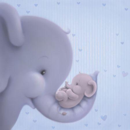 Gabi Murphy - soft style-ed.psd - Mummy Elephant & Baby Elephant