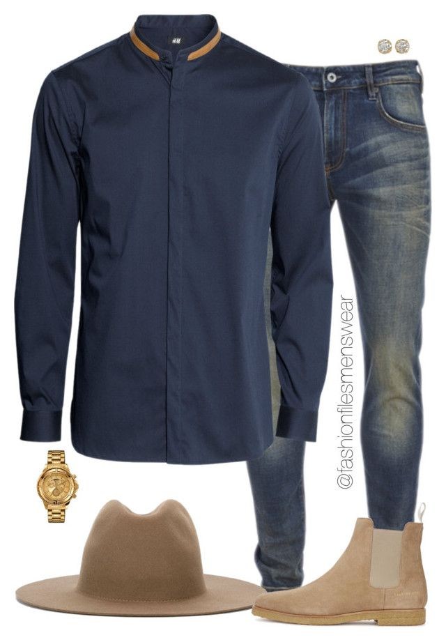 Mature by highfashionfiles on Polyvore featuring polyvore Scotch & Soda Études Common Projects Versus Hoorsenbuhs men's fashion menswear clothing