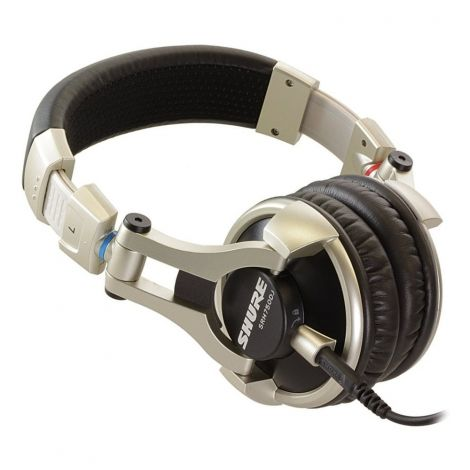 The Shure SRH750DJ headphone has the largest driver in the Shure headphone range. You can expect particularly high bass response with extended highs. With a high rated load of 3000 mW this headphone can cope with very high volumes clearly and distortion-free.