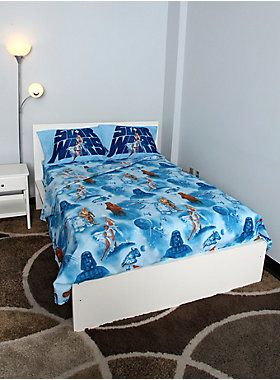 """<p>Microfiber full sheet set from <i>Star Wars</i>.</p><p>Includes: 1 flat sheet, 1 fitted sheet and 2 standard pillowcases.</p><ul><li style=""""LIST-STYLE-POSITION: outside !important; LIST-STYLE-TYPE: disc !important"""">100% polyester</li><li style=""""LIST-STYLE-POSITION: outside !important; LIST-STYLE-TYPE: disc !important"""">Imported</li></ul>"""