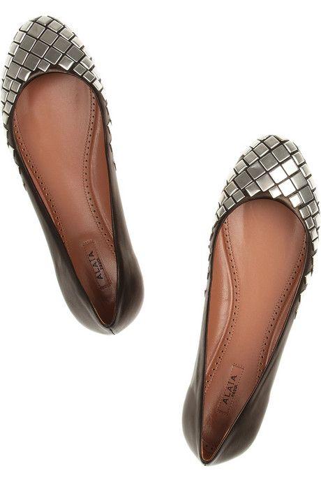 Alaïa Studded leather ballet flats