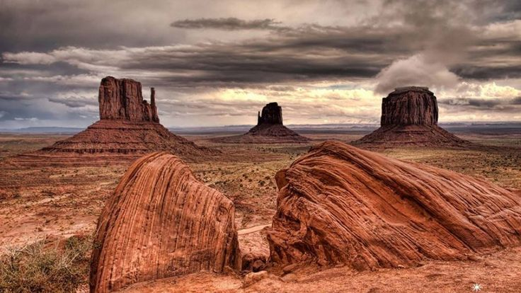 Monument Valley, AZ / DIrector John Ford had filmed Stagecoach and 9 other films there, including The Searchers.  Sergio Leone is said to have memorized all the spots used in Ford films before scouting Once Upon a Time in the West and pointed them out to his crew.