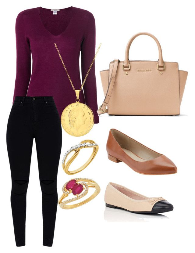 """""""Untitled #27"""" by devih on Polyvore featuring La Fileria, G.H. Bass & Co., Barneys New York, Michael Kors, Sphera and Lord & Taylor"""