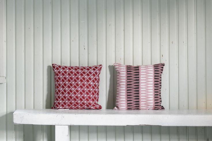 Aapiste cushions. Design by Riikka Kaartilanmäki.
